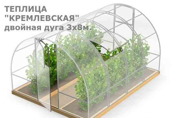 "Теплица ""Кремлевская"" 3х8 метра"