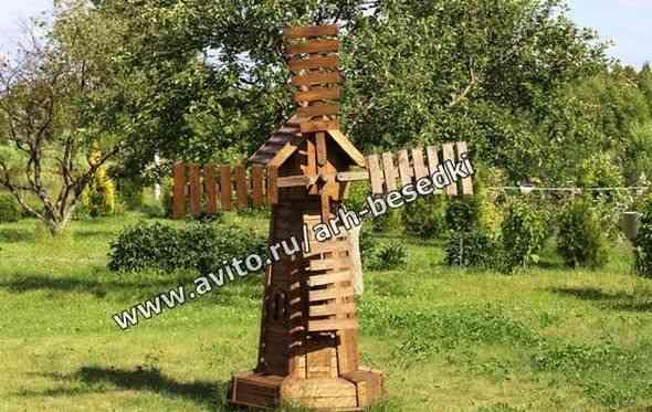 Мельницы, мельница темная, мельница из дерева