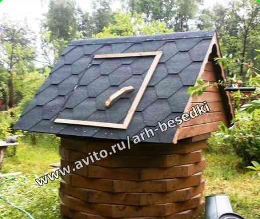Домик на колодец, колодец, деревянные колодцы 1606