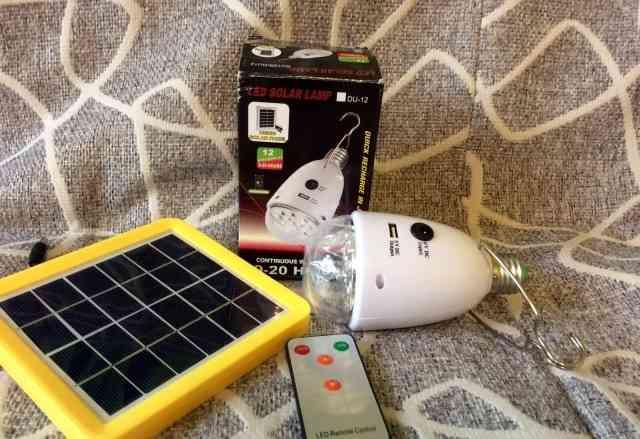 Продам лампы на солнечных батареях