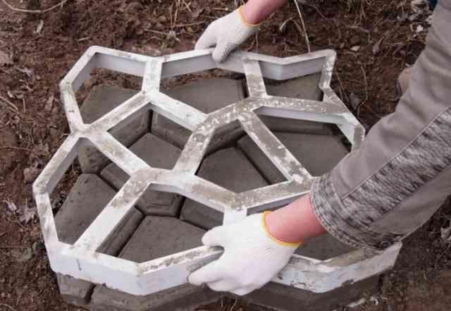 Для изготовления тротуарной плитки Трафарет-Шаблон