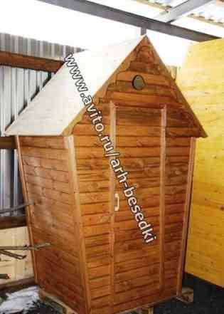 Туалет для дачи деревянный, туалетная кабинка1303