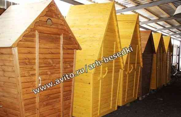 Туалет, туалетная кабинка деревянная арт1302