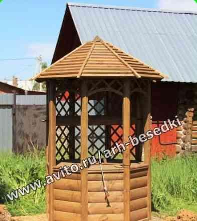 Колодец деревянный, домик на колодец, Арт N1600