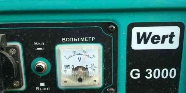 Бензиновый генератор wert G3000